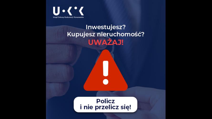"""Plakat UOKiK dotyczący kampanii """"Policz i nie przelicz się!"""""""
