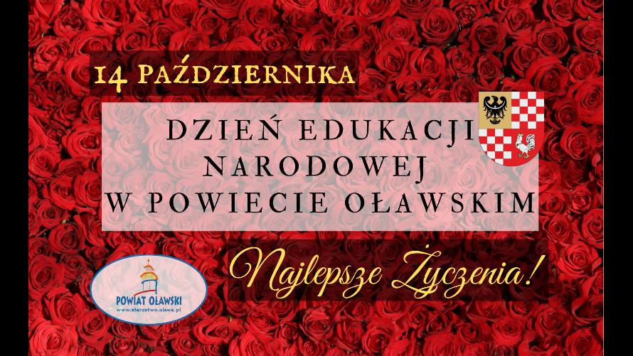 14 października, życzenia z okazji Dnia Edukacji Narodowej w powiecie oławskim.