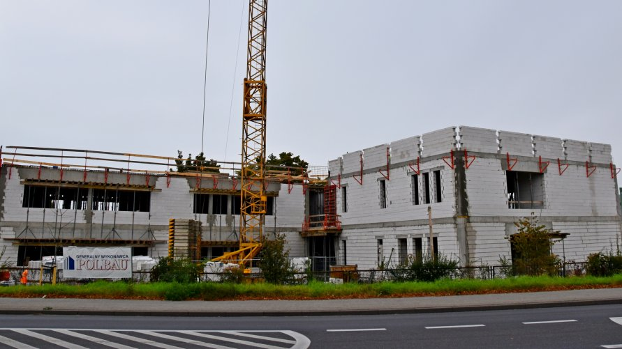 Plac budowy warsztatów szkolnych