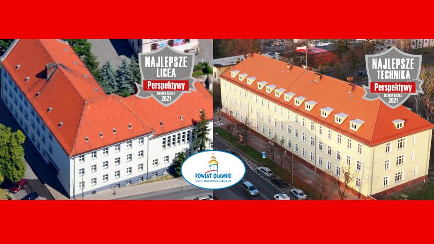 Dwie szkoły średnie z naszego powiatu ze znakami jakości - Technikum Nr 2 w ZS im. Zjednoczonej Europy w Oławie oraz LO Nr I im. Jana III Sobieskiego w Oławie.